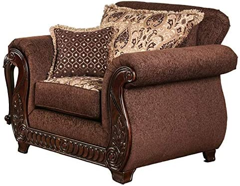 Furniture of America Clel Traditional Fabric Accent Chair