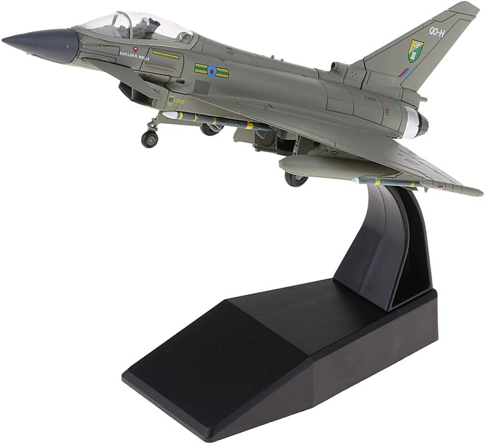 IPOTCH EF-2000 Fighter Diecast Typhoon Eurofighter Model Toy Aircraft 1//100