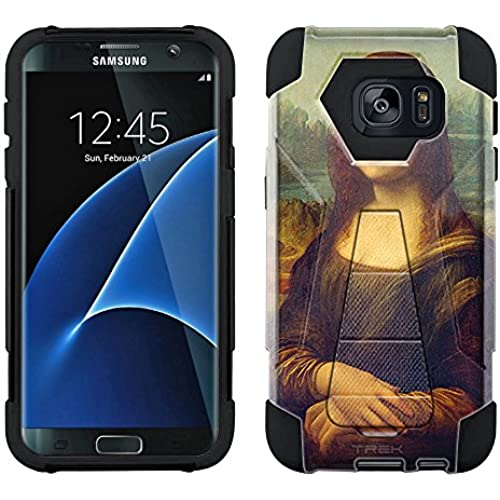 Samsung Galaxy S7 Edge Hybrid Case Leonardo da Vinci Mona Lisa 2 Piece Style Silicone Case Cover with Stand for Samsung Galaxy S7 Edge Sales