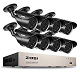 ZOSI FULL 1080P HD-TVI 8CH Security Camera System, ,8 Channel  4-in-1 Home Surveillance  DVR and (8) HD 2.0MP 1920TVL Outdoor/Indoor CCTV Cameras, ,42pcs IR Leds 120ft night vision, NO Hard Drive