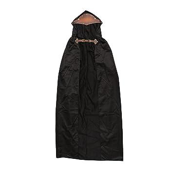Homyl Capa con Capucha Color Negro Accesorios para Cosplay Disfraces de Médico de la Peste Negra