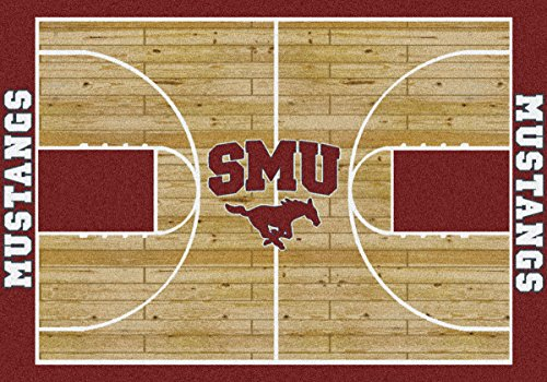 Southern Methodist Mustangs NCAA Area Rug - Home Court (10'9