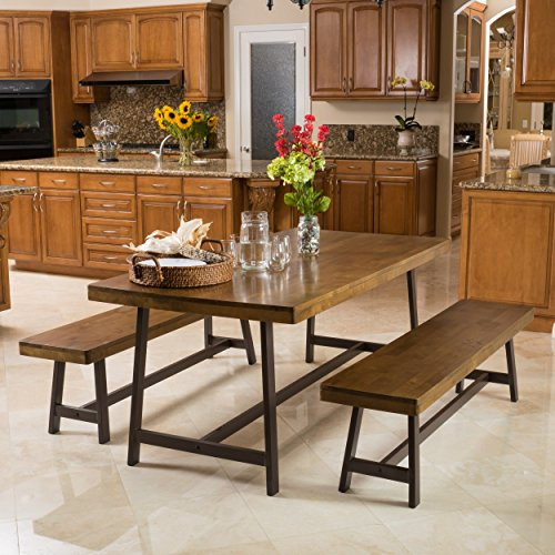 Hamilton Acacia Oak Foldable 3pc Dining Set