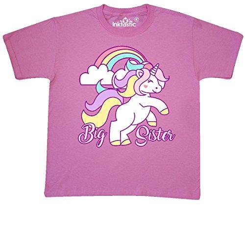 inktastic - Big Sister Unicorn Youth T-Shirt Youth Small (6-8) Azalea