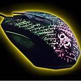 CLiPtec METEOR 2400 Adjustable High DPI USB 2.0 Optical LED Light Illuminated Wired Gaming Mouse Mice For Laptop PC Computer Mac
