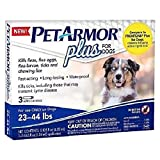 PetArmor Plus For Dogs Flea Tick Repellent 23-44 LBS 4 Applications