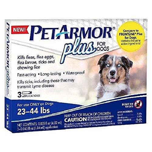 PetArmor Plus For Dogs Flea Tick Repellent 23-44 LBS 4 Applications by PETARMOR
