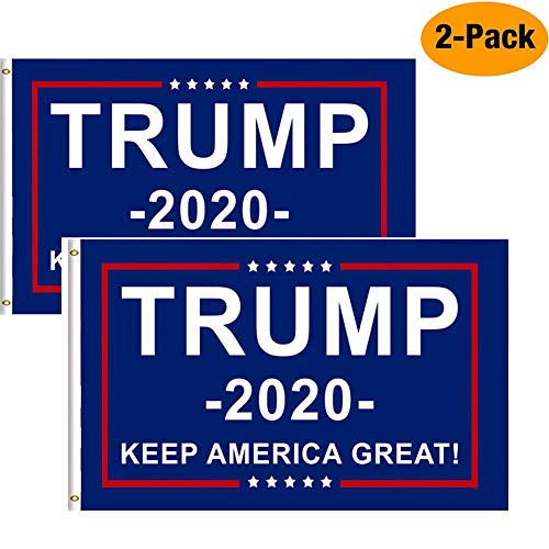 Donald Trump Flag 3x5 Feet Vivid Color and UV Fade Resistant - Canvas Header and Double Stitched - U.S. President Flags Polyester with Brass Grommets 3 X 5 Ft … ()