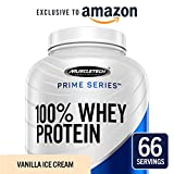 MuscleTech Prime Series 100% Whey Protein Powder, 25g Premium Protein, Research Proven Whey & Peptides for Faster Absorption, Vanilla, 66 Servings (5.0lbs) - Amazon Exclusive