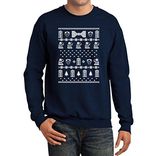 (Tstars Doctor Ugly Christmas Sweater Men's Sweatshirt Large)