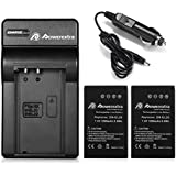 Powerextra 2x Battery and Charger (with Car Charger) for Nikon EN-EL20, EN-EL20a, Nikon1 J1, Nikon1 J2, Nikon1 J3, Nikon1 S1, Nikon1 V3, Nikon Coolpix A, Nikon1 AW1 and Blackmagic Pocket Cinema Camera