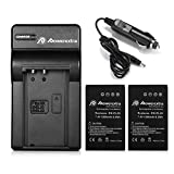 Powerextra 2x EN-EL20a Replacement Battery & Charger, Car Charger Compatible with Nikon Coolpix P1000, Nikon1 J1, J2, J3, Nikon1 S1, Nikon1 V3, Nikon Coolpix A, Nikon1 AW1, Blackmagic Pocket Cinema