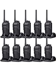 Retevis RT27 Long Range Two Way Radio 22 Channel VOX Rugged Rechargeable Walkie Talkies for Adults with Charging Dock (10 Pack 2 Way Radios)
