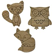 Baby and Children Woodland Wall Art, Set of Three, by The Peanut Shell