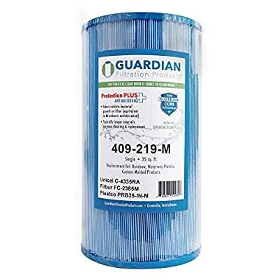 Guardian Pool Spa Filter Replaces Unicel C-4335 - PleatcoPrb35-IN - FC-2385 - Rainbow Dynamic Series Iv : Garden & Outdoor