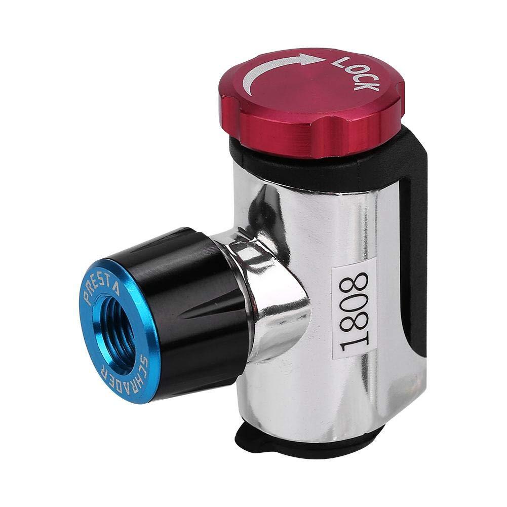 Cabeza de Inflador de V/álvula de Bicicleta,Bombas de CO2 de Bicicleta de Monta/ña de Carretera de Ciclismo Port/átil CO2 Cartucho Bomba Cabeza Mini con Cubierta de Esponja