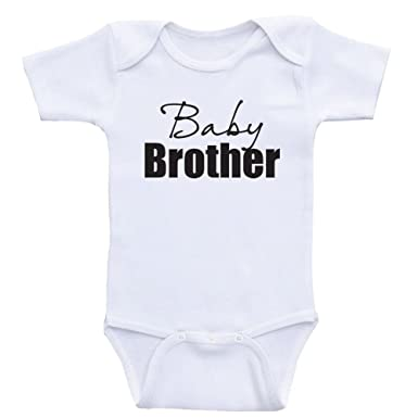 0cf6d58def4f6 Amazon.com: Heart Co Designs Little Brother Baby Onesie Baby Brother ...