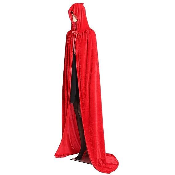 Delidraw Halloween Disfraces, Medieval Terciopelo Capa con ...