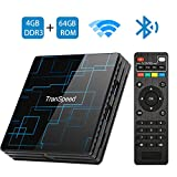 Android TV Box 9.0 4GB RAM 64GB ROM Smart TV Box RK3318 USB 3.0 Ultra HD 4K HDR Dual Band WiFi 2.4GHz 5.8GHz BT 4.1 Set Top Box Streaming Media Player