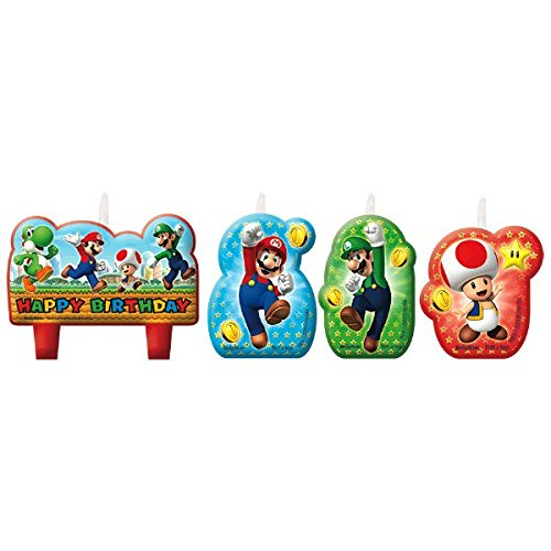 Super Mario Birthday Candle Set Amscan Internatinal Ltd 171554