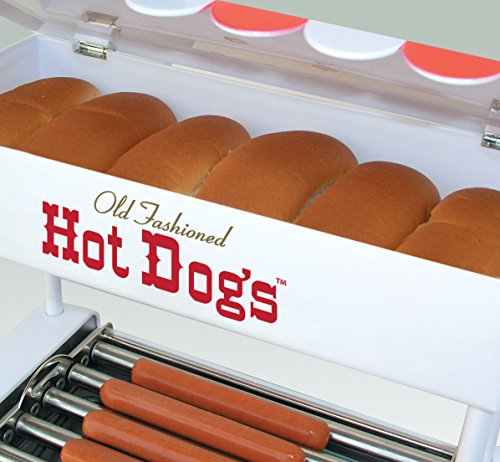 082677135650 - Nostalgia HDR565 Vintage Collection Hot Dog Roller with Bun Warmer carousel main 2