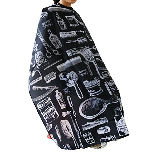 NUOLUX Haircut Hairdressing Cape Cloth Apron Hair Styling Cape Salon Equipment With Buttons and Haircut Tools Design