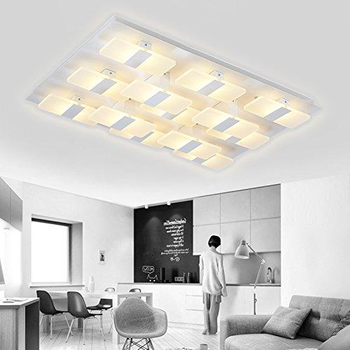 Einfache Decke LED-Beleuchtung von kleinen rechteckigen Wohnzimmer ...