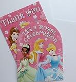 Disney Princess 8 Invitations & 8 Thank You Notes