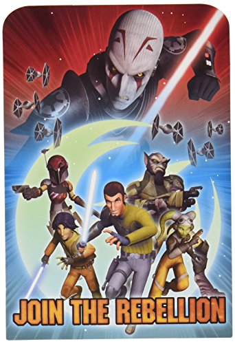 Amscan Star Wars Rebels Birthday Party Postcard Invitation Kit (8 Pack), 6 1/4