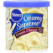 Pillsbury, Creamy Supreme Frosting, Cream Cheese Flavor, 16-Ounce (Pack of 8)