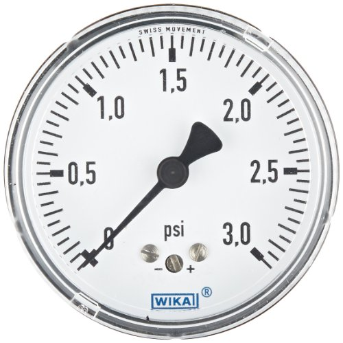 wika-9851836-capsule-low-pressure-gauge-dry-filled-copper-alloy-wetted-parts-2-1-2-dial-0-3-psi-rang