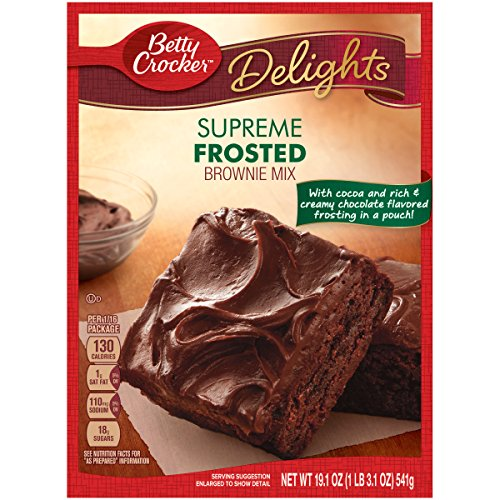 Betty Crocker Delights Brownie Mix Supreme Frosted 19.1 oz Box ()