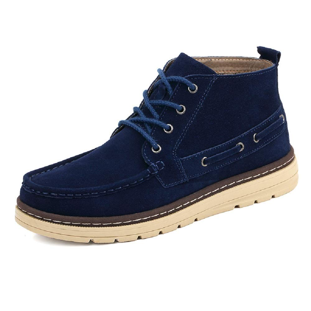 blå MON5F HOMEN herrar Winter Plus sammet Warm Boot s s s Big Dock Layer läder herrar Bomull skor Boot s England High Tube herrar skor (Färg  grön, Storlek  46)  grossistaffär