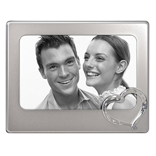 Malden International Designs Diamond Heart Picture Frame, 4x6, - Plate Diamond Picture Frame
