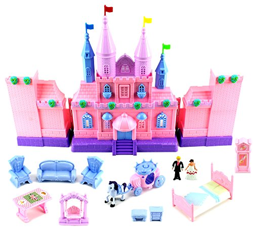 Doll playsets my dream castle mansion 43 toy doll playset for Kitchen set toy kingdom