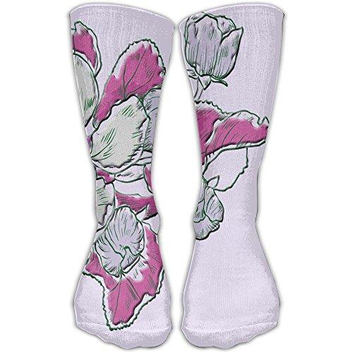 Bouquet Men Hip-hop 3D Print Sport BascketBall Thicken Long Socks Unisex