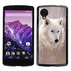 YOYO Slim PC / Aluminium Case Cover Armor Shell Portection //Cool Winter Wolf //LG Google Nexus 5