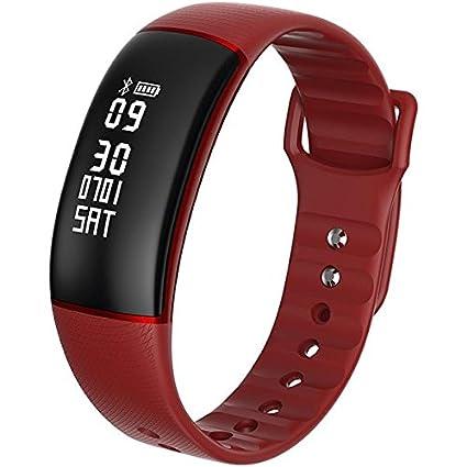 Dynamic KALOAD M61 Smart Pulsera Ritmo cardíaco Monitor de presión cronómetro IP67 Impermeable Reloj - Rojo