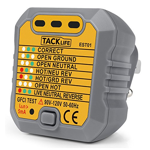 Tacklife EST01 Advanced GFCI Outlet Tester Power Socket - Import It All