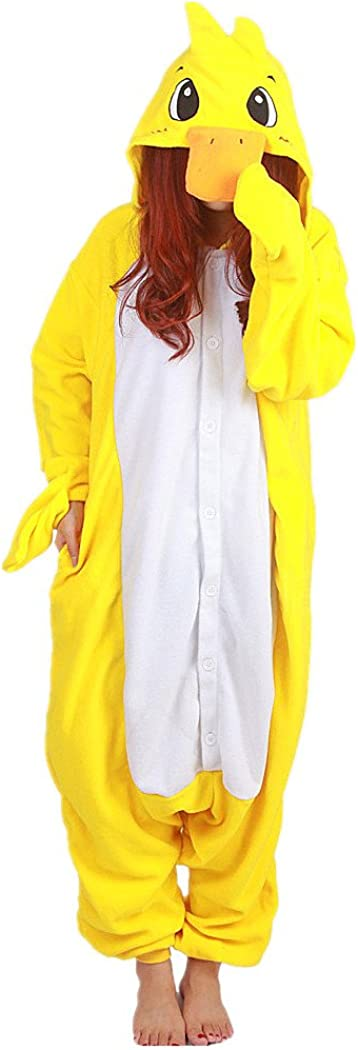 WOTOGOLD Animal Cosplay Costume Duck Unisex Adult Pajamas