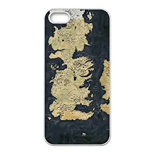 iPhone 4 4s Cell Phone Case White Map Game of Thrones W0Z0CE