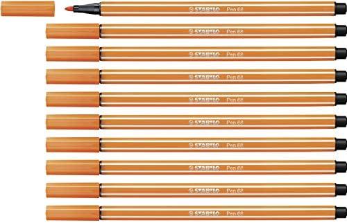 Stabiloペン6810個パック–Premiumフェルトペン 68/30
