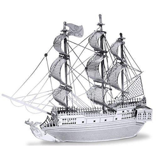 Metal Earth 3D Metal Model Kits - Ships - Black Pearl - Titanic - Golden Hind - Commuter Ferry - USS Arizona - Gold Golden Hind - 6 Piece Bundle