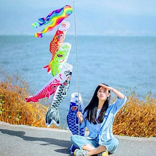 こいのぼり防水日本の鯉吹き流しストリーマー子供のためのカラフルな魚旗インテリアカイトこいのぼりハンギング GBYGDQ (Color : Green)