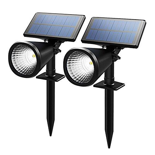 Topop Solarleuchten Scheinwerfer im Freien Außenbeleuchtung wasserdicht Wand-Licht, Sicherheits-Nachtlicht. - 4 Stück