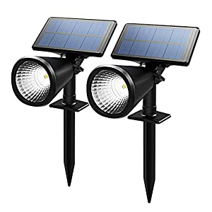 2 pack spot solaire led lampe solaire led sans fil jardin. Black Bedroom Furniture Sets. Home Design Ideas