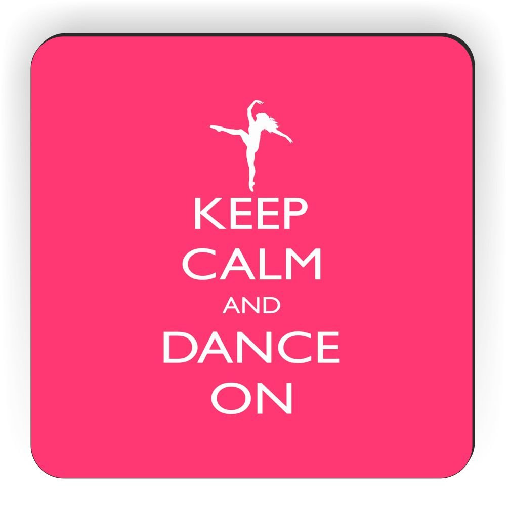 Rikki Knight Keep Calm and Dance on Design Square Fridge Magnet Tropical Pink
