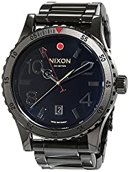 Nixon A277-1883 Mens Diplomat SS All Black Polished Gold Watch