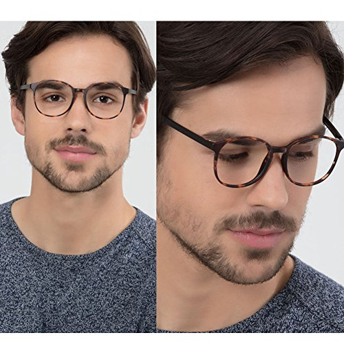 LifeArt Blue Light Blocking Glasses,Cut UV400 Transparent Lens,Computer Reading Glasses,Anti Eyestrain/Anti Scratch/Anti Smudgy,Sleep Better for Women/Men(LA_Days_Tortoise,0.00,No Magnification) by LifeArt (Image #4)