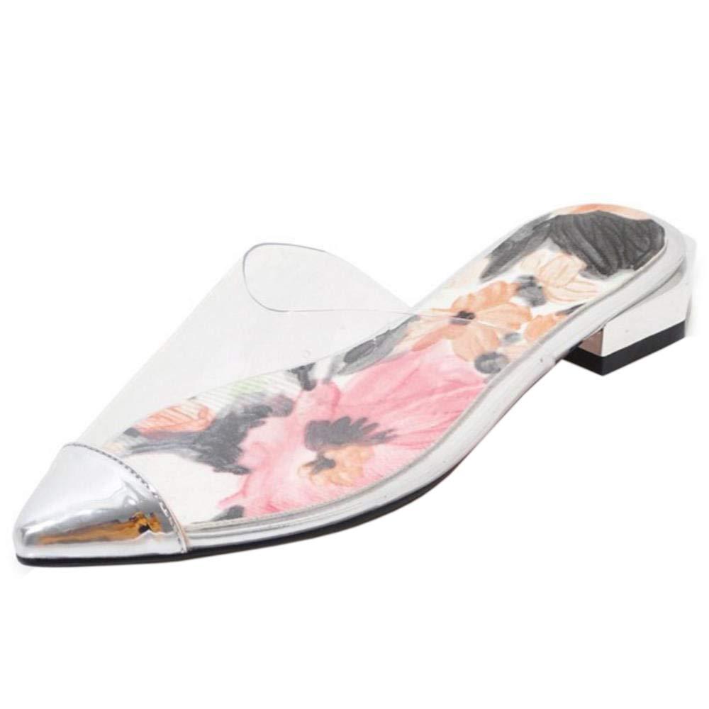 CularAcci Women Summer Low Heel Mules